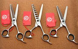 Wholesale Japan 18 - 532# 5.75'' Brand Purple Dragon Professional Hairdressing Scissors JP 440C Barber's 8 14 18 Teeth Thinning Scissors Hair Shears