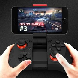 Wholesale Game Pad For Pc - Double rocker Smartphone Game Controller Wireless Bluetooth Phone Gamepad Joystick for Android Phone Pad Android Tablet PC TV