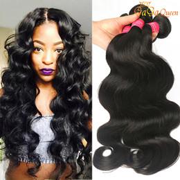 Wholesale 18 Wave Extensions - 8A Brazilian Virgin Hair Body Wave 4 Bundles Unprocessed Brazilian Body Wave Human Hair Extensions Peruvian Malaysian Indian Hair Bundles