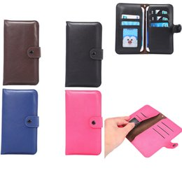 Wholesale Leather Elephant Bag - Elephant grain card slot wallet style Mobile Phone Bag Cover Case For Multi Phone Model Belt Case
