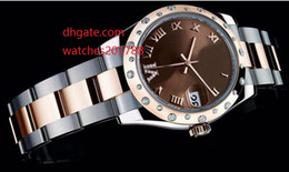 Wholesale Red Diamond Wine - The latest version Luxury 31mm 178341 Diamond 18k Rose Goldl Sapphire Glass Wine red dial Ladies Automatic Watch Watches
