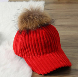 Wholesale Raccoon Hair - Removable Hair Ball Hat Pendant Faux Raccoon Hair Ball Hat Clothing Accessories with Press Button Fake Fur Hat Bubble Ornament 77