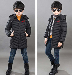 Wholesale Boys Sport Coat Size - baby girl and boy sport Medium and long style coat kids children winter jacket style 3 colors size for 8-14 years kids 2016 winter coat.