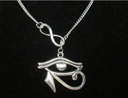Wholesale Wicca Amulet - Eye of Horus lariat infinity necklace, amulet wicca pagan positive energy
