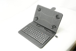 "Wholesale Usb Keyboard Tablet Red - 7"" inch Mirco USB Keyboard Case PU Leather Folding Folio Stand Cover Tablet Cases for 7 inch Q88 Tablet PC 7 Colors"