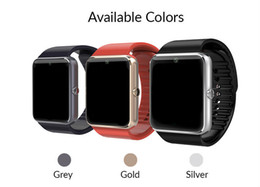 Wholesale Turkish Silver Bracelets - GT08 Bluetooth Smart Watch with SIM Card Slot and TF Health Watchs for Android Samsung and IOS Apple iphone Smartphone Bracelet Smartwatch