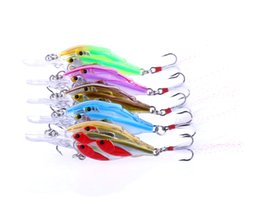 Wholesale Lure Group - HENGJIA group Multiple Bionic Fishing lure Plastic isca artificial 2016 3D 6.1g 6.5cm Eye Plastic Crankbait Feather hook Bass fishing tackle
