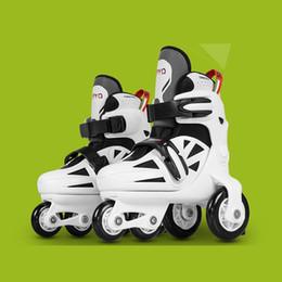 1 Paar Kinder Kinder Stabile Balance Slalom Doppel Linie Parallel Eis Skate Roller Schuhe Inline Einstellbar Herbst Prävention Rollschuhe, Skateboards Und Roller