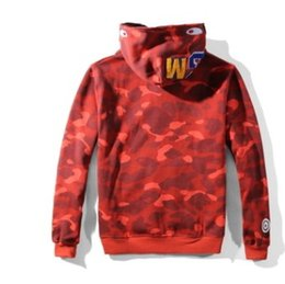 Wholesale Lapel Sweater - HOT sale autumn new Camouflage casual youth plus velvet sweater Men and women hooded loose coat