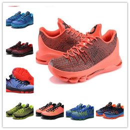 Wholesale V8 Price - 2016 Kevin Durant KD 8 Basketball Shoes V8 Bright Crimson With Tick KD8 Sports Shoes Discount Leather Men s Basketball Sneakers Best Price