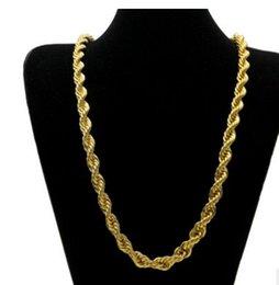 Wholesale Twist Gold Noble - noble yellow gold filled twist men*women necklace 168