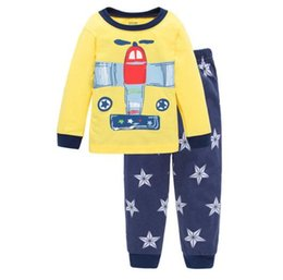 Wholesale Cheap Cotton Clothing For Girls - Pajamas for Children baby underwear kids sets long sleeves clothes for girls boys cotton cheap and free delivery plane 2017 new