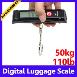 Wholesale Digital Portable Travel - Portable digital lage scale with belt or hook 50kgx10g travel weighing scales moq=1 free shipping