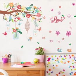 Canada branche fleur papillon stickers muraux pour enfants chambres enfants chambre chambre salon décor à la maison stickers muraux Offre