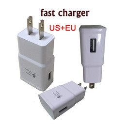 Wholesale Car Wall Usb Charge - Original 2 in 1 Fast Charging Set 2.1A Wall EU US Adapter USB Charger Plug for Samsung S6 S7 Note5 Note4