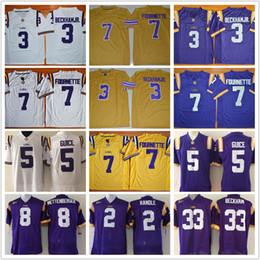 Wholesale Mathieu Football Jerseys - Men Youth LSU Tigers 3 Odell Beckham JR. 7 Leonard Fournette #5 Derrius Guice Tyrann Mathieu College football jerseys