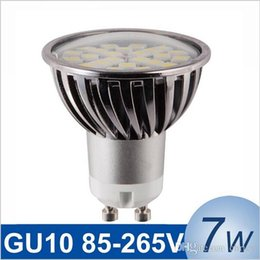 Wholesale High Intensity White Led Bulb - New dimmable GU10 7W LED Spotlight SMD5050 85-265V High Intensity Alamium LED Lamp Bulb Spot Light epistar chip