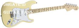 Wholesale Guitar Cream - Custom Vintage White Cream Yngwie Malmsteen Scalloped maple fingerboard Big Head ST 6 string electric guitar guitarra Drop Shipping