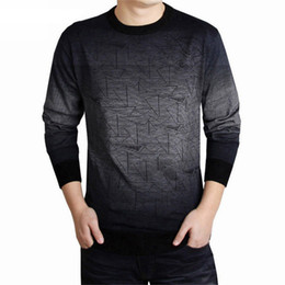 Wholesale Men Dress Sweaters - Cashmere Sweater Men Brand Clothing Mens Sweaters Print Hang Pye Casual Shirt Wool Pullover Men Pull O-Neck Dress