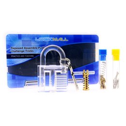 Wholesale Disassembly Educational Toy - 2016 New Educational Toys DIY Clear Demonstration & Practice Padlock Easy Assembly and Disassembly DHL free shipping