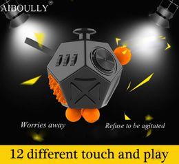 Wholesale Interesting Movies - Latest version Fidget Cube interesting high quality 12 Sided Fidget spinner Anti irritability Toy Magic Cobe Antr Stress toy