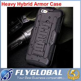 Wholesale Armor Case For S4 - Armor Hybrid Dual Layer Holster Case for iPhone 6 6Plus 5s 4 Kickstand &Locking Belt Clip Cover For Samsung S6 S5 S4 S3 Note4 Note3