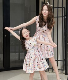 Wholesale Girls E Clothing - Wholesale-2016 Matching Mother Daughter Clothes Family Look Girl and Mother Mom and Daughter Dress Parent-child Outfit Ma e Filha Dresses