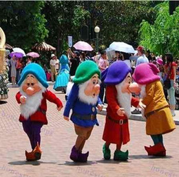 Wholesale Dwarf Mascot Costume Cartoon - 2016 hot sale New Seven Dwarfs. Adult Size Cartoon Mascot Costume EMS free shipping