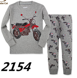 Wholesale Boys Pajamas Size 3t - baby Boy Pajama Set Cartoon kids Sleepwear Girls cute Home Nightgown Children Pajamas Set Girls cotton pyjamas size 2-7Y