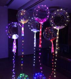 decorazione spray a neve Sconti Accendi i giocattoli LED String Lights Lampeggiatore Illuminazione Palloncino Wave Ball 18 pollici Palloncini ad elio Decorazioni natalizie Giocattoli di Halloween