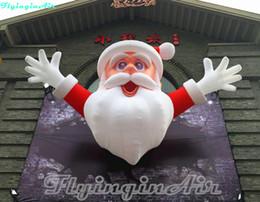 Decorazione dell'entrata online-6m Hanging Santa gonfiabile Santa Claus Entrance Door Decoration