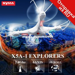 Wholesale Toys Shatterproof - SYMA X5A-1 Drone Quadcopter without Camera 2.4G 4CH 6 Axis Shatterproof RC Drone RC Helicopter High Quality Kids Toys Gift