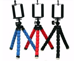 Wholesale Mini Gopro - Flexible Tripod Holder For Cell Phone Car Camera Gopro Universal Mini Octopus Sponge Stand Bracket Selfie Monopod Mount With Clip
