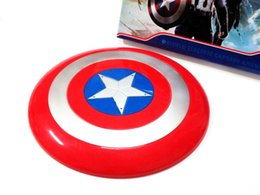 "Wholesale Avengers Props - The Avengers Captain America Shield 30cm 12"" Light-Emitting & Sound Cosplay property Toy ABS shield for child gift"