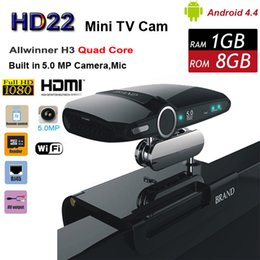 Wholesale Mini Quad Phone - HD23 EU3000 5.0MP Cam Skype Quad Core Allwiner H3 Mini PC Video Phone Network Android 4.4 TV Box HDMI Smart Stick with DSP Mic Speaker HD22