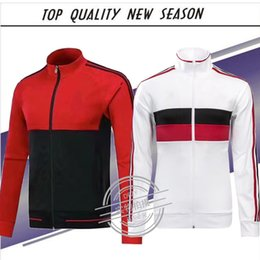 Wholesale Honda Ac - New season football jacket 2017 2018 AC milan jackets kits 17 18 MENEZ HONDA BACCA tracksuit jacket Sweatshirt AC Milan jacket