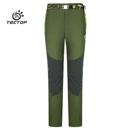 Wholesale Thick Waterproof Trousers - Wholesale-TECTOP fishing camping hiking softshell pants men women outdoor Skiing trousers waterproof windproof thick warm camping pants