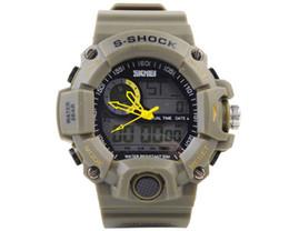 Wholesale Men S Divers Watch - Outdoor Skmei Waterproof S-Shock Digital Watch Military Sport Men Watch OD