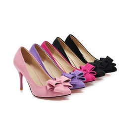 Wholesale Korean Woman Nightclub - Summer new fashion lady bowknot nightclub high-heeled shoes, Europe and the United States sexy classic high-heeled shoes, Korean trend, glob
