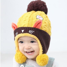 Wholesale Boys Wool Hats - 2018 new winter baby hat wool hot discounts price for boys and girls