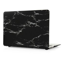 "Wholesale Macbook Pro Black Case - Macbook Pro 11"" 13"" 15"" Laptop Case, White Marble Stripe Black Hard PC Cases 11 13 15 (11.6 13.3 15.4) inch"