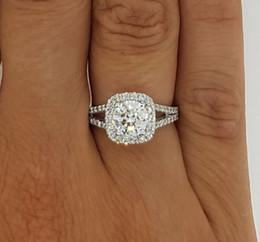 Wholesale Diamond Ring Vs1 - 4.50 CT ROUND CUT D VS1 HALO DIAMOND ENGAGEMENT RING ENHANCED 14K WHITE GOLD