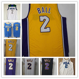 Wholesale Ball Stops - Cheap UCLA College Lonzo Ball Jerseys #2 Lonzo Ball Basketball Jersey Chino Hills High School All Stitched High quality jersey