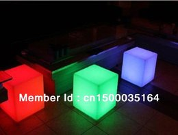 Wholesale Outdoor Led Chair - Wholesale- Magic led illuminated furniture! waterproof outdoor 30*30*30CM led cube chair ,bar stools,wedding,party decoration lighting