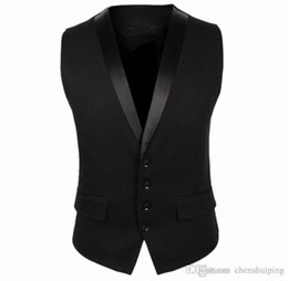 Wholesale New Fashion Waistcoat - Spring Autumn New Mens Suit Vest Fashion Casual Dress Vests for Men Slim Fit Waistcoats Outerwear free shipping