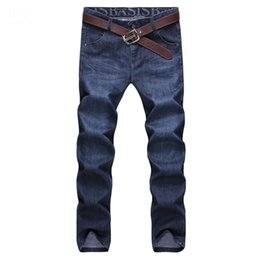 Wholesale Blue Acrylic Tube - Wholesale-Four seasons hot sale fashion style zipper softener Leisure time All-match Straight tube thickness Business simple fashion jeans