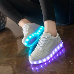 Wholesale Lawn Floor Lights - British Olympic delegations and disco fashion shoes shine shoes high quality LED lights USB charging colorful shoes