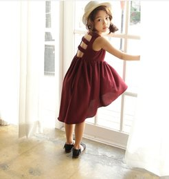 Wholesale Elegant Baby Dress Organza - Princess Dress Baby Kids Summer Clothing Girls Sleeveless Party Dresses Irregular Casual Girl Dinner Dress Elegant Children Clothes 9220