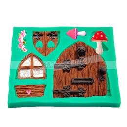 Regalo porta caramelle online-Fata racconto muffa del sapone del silicone muffa finestra porta torta fondente decorazioni Candy Candy strumento di cottura regalo di compleanno