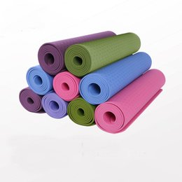 Wholesale Gym Exercise Mats - TPE Yoga mats fitness Three parts environmental tasteless colchonete fitness yoga gym exercise mats 183*61*0.6